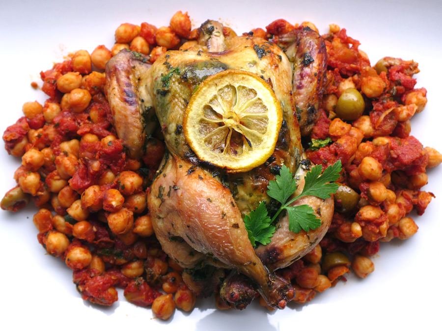 Chermoula Chicken with Fiery Chickpeas