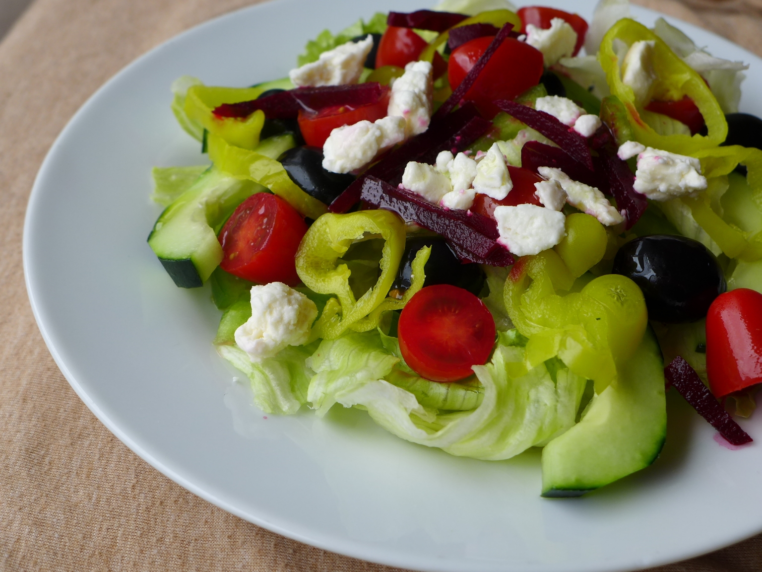 Greek Salad with Beets